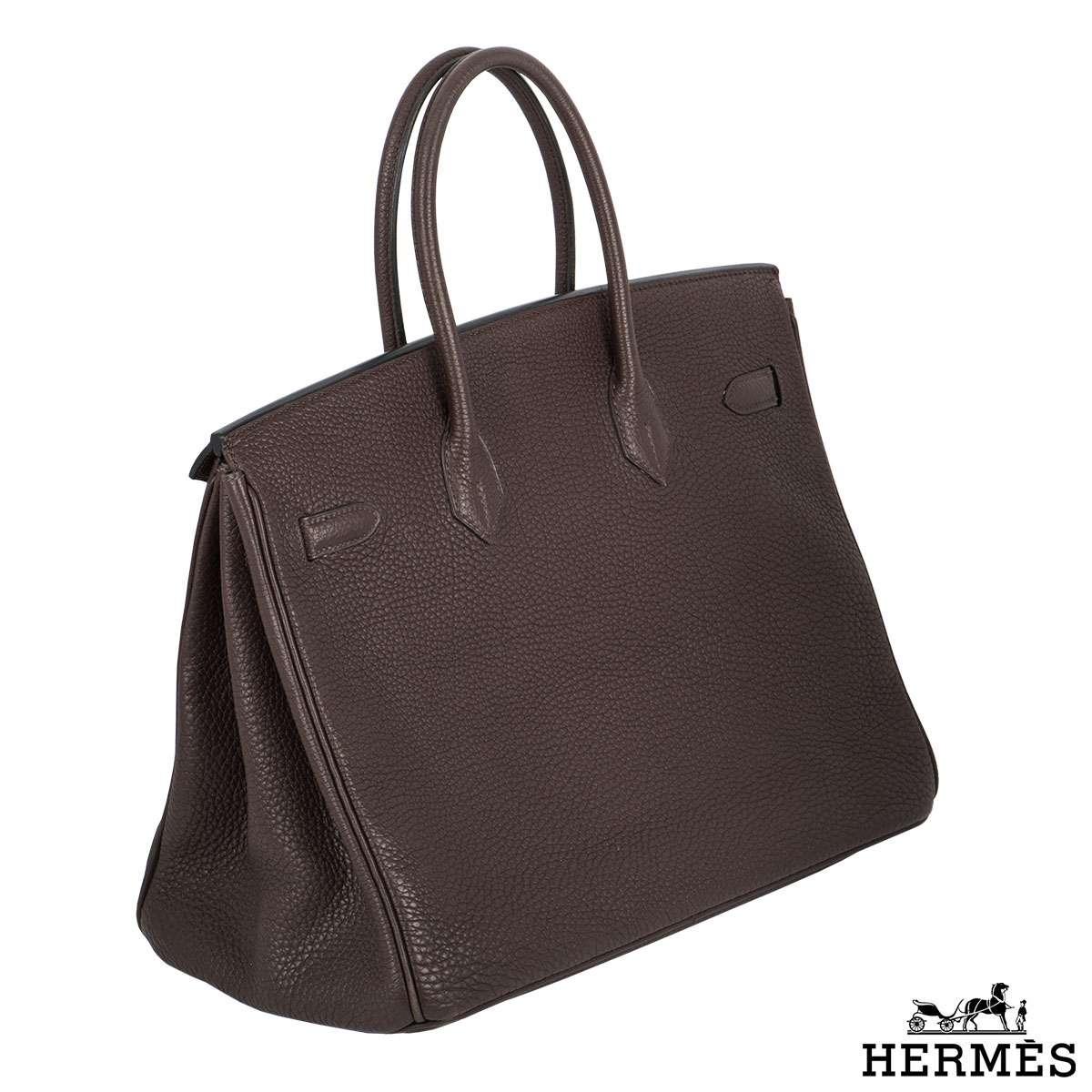 Hermès 35cm GHW Cacao Birkin Bag